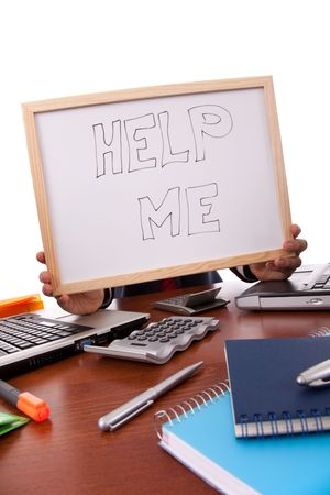 businessman asking for help (hiding his head) Stock Photo - 5922454