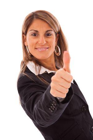 businesswoman gesturing OK with her hand  photo
