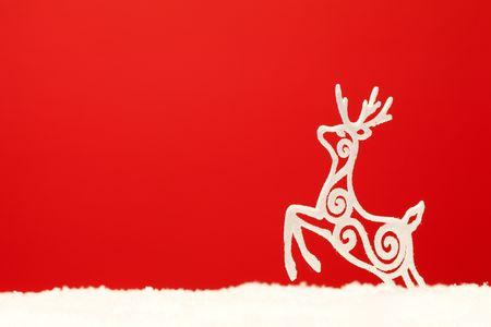 christmas ornament background; (very shallow deep) photo