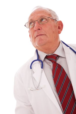 expertise doctor older man looking to the copy space photo