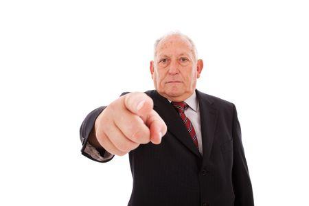 senior businessman pointing to you Stock Photo - 6317152