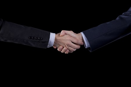 handshake between two businessman after closing the contract Stock Photo - 6952934