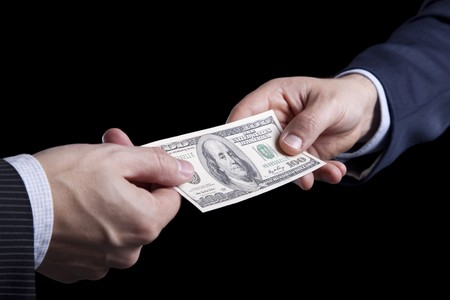 businessman giving money Stock Photo - 6954000
