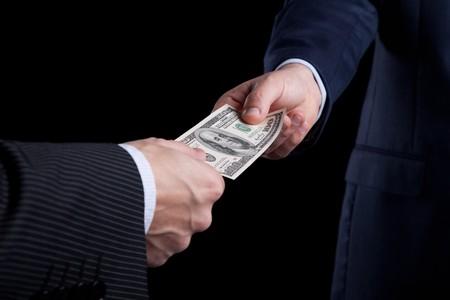 businessman giving money Stock Photo - 6953839