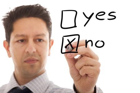 businessman making a negative decision Stock Photo - 6952927