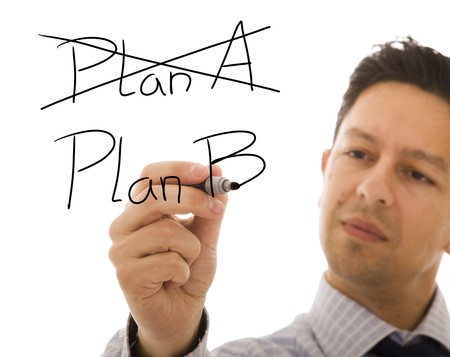 Businessman making choosing her strategy with the second plan Stock Photo - 6952938