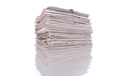 stack of newspapers (selective focus) photo