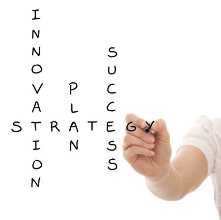 intention: Main r�soudre un plan strat�gique pour r�ussir dans son entreprise.  Banque d'images