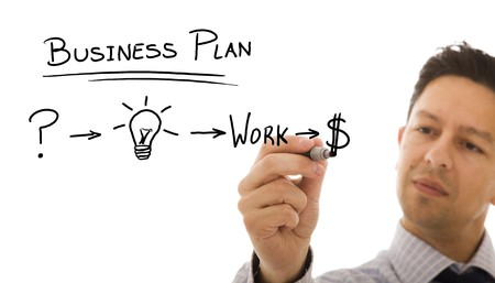 Businessman with a strategy plan to be successful in his business Stock Photo - 7809885