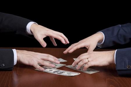 businessman giving money Stock Photo - 8027497