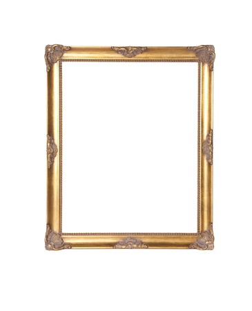 Antique picture frame isolated on white Stock Photo - 8027457