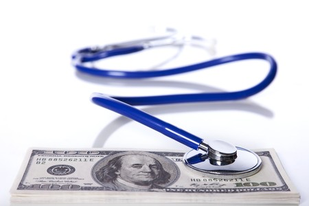 High cost for a good healthcare service (selective focus)