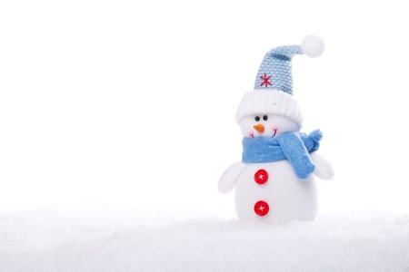 christmas snowman ornament background; (very shallow deep) photo