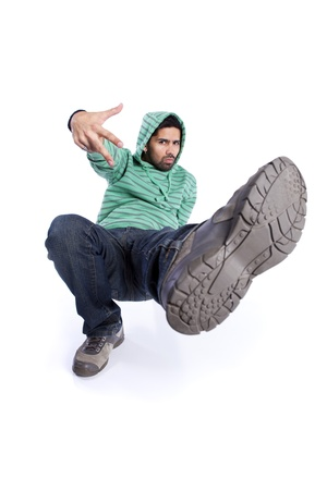 Hip hop dancer showing some movements Stock Photo - 9280173