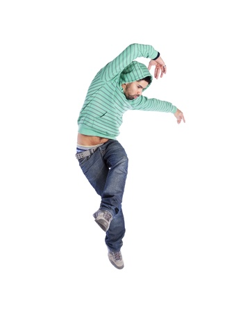 hip hop dancer: Hip hop dancer showing some movements (some motion blur)