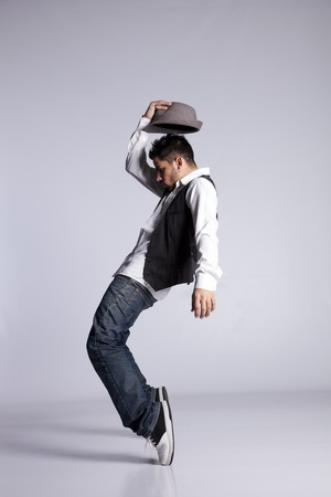 Hip hop dancer showing some movements Stock Photo - 9280186