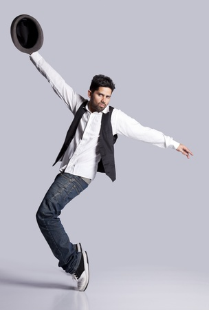 Hip hop dancer showing some movements Stock Photo - 9288165