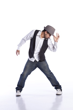 Hip hop dancer showing some movements Stock Photo - 9280185