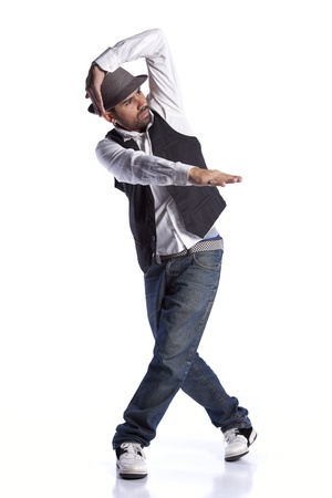 Hip hop dancer showing some movements Stock Photo - 9288162