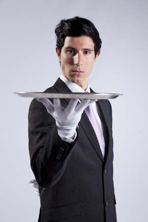businessman showing you the solution Stock Photo - 9284885