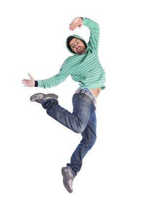 hombre cayendose: Bailarín de hip-hop mostrando algunos movimientos (algunos desenfoque de movimiento)