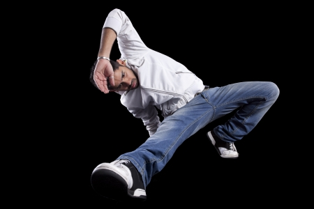 breakdance: Hip hop dancer showing some movements (some motion blur)