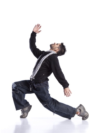 dance pose: Hip hop dancer showing some movements