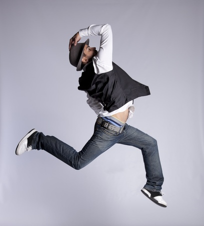 Hip hop dancer showing some movements (some motion blur) Stock Photo - 10029603