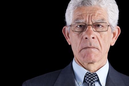 Powerful businessman portrait (isolated on black) Stock Photo - 10030392