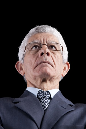 Powerful businessman portrait (isolated on black) Stock Photo - 10030076
