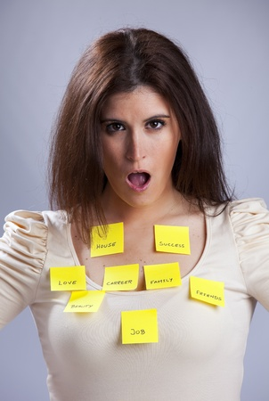 All the things that worries a young woman Stock Photo - 10029867