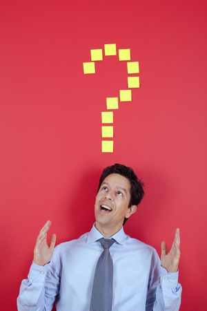 Happy businessman having a great idea Stock Photo - 10029872