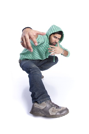 Hip hop dancer showing some movements Stock Photo - 10035871
