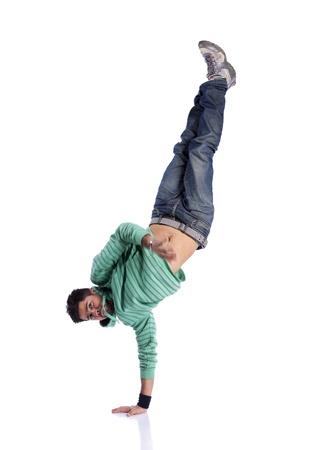 danza contemporanea: Bailarina de hip hop que muestran algunos movimientos (algunos desenfoque de movimiento)