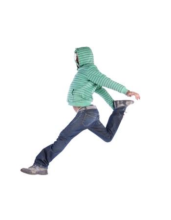 danza contemporanea: Bailarín de hip-hop mostrando algunos movimientos (algunos desenfoque de movimiento)