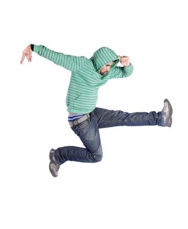 bailarin hombre: Bailarín de hip-hop mostrando algunos movimientos (algunos desenfoque de movimiento)