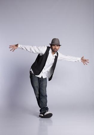 jazz modern: Hip hop dancer showing some movements