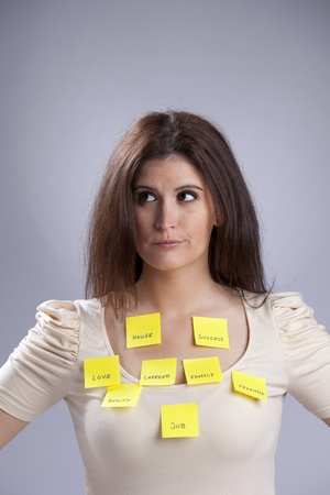 All the things that worries a young woman Stock Photo - 10035779