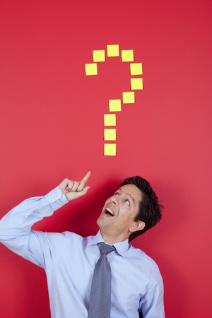 Happy businessman having a great idea Stock Photo - 10035745