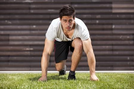 Men athlete starting running Stock Photo - 10035791