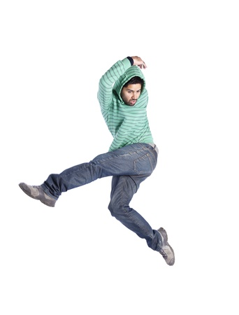 Hip hop dancer showing some movements (some motion blur) Stock Photo - 11017314
