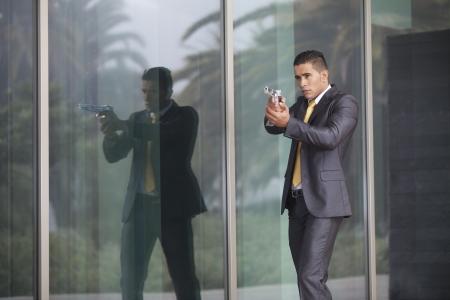 agent de sécurité: Affaires de sécurité puissante visant une arme à feu