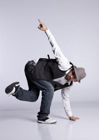 danza contemporanea: Hip hop dancer mostrando algunos movimientos (desenfoque de movimiento) Foto de archivo