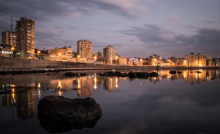 exposition longue tir à saida liban Banque d'images