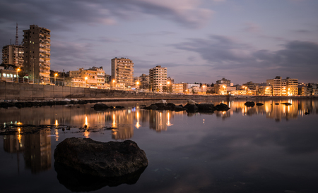 long exposure shot at saida lebanon