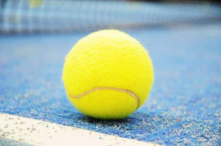 touchline: Tennis ball on the touchline Stock Photo