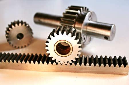 rack wheel: gear wheel and rack