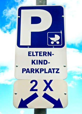 parking or parents with childs photo