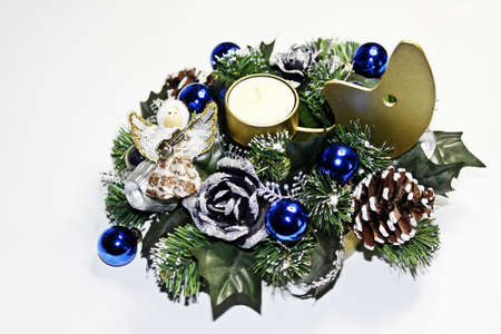 christmas tide: advent and christmastime decoration Stock Photo