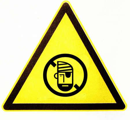 symbole: triangle with pirate Stock Photo